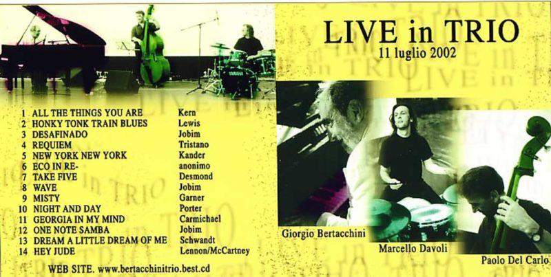 live in trio album cover