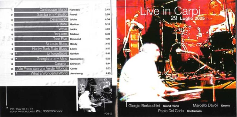 live in carpi 2005 album cover